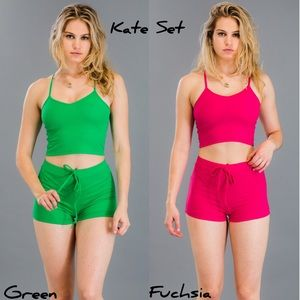 Other - Kate Set in Green & Pink